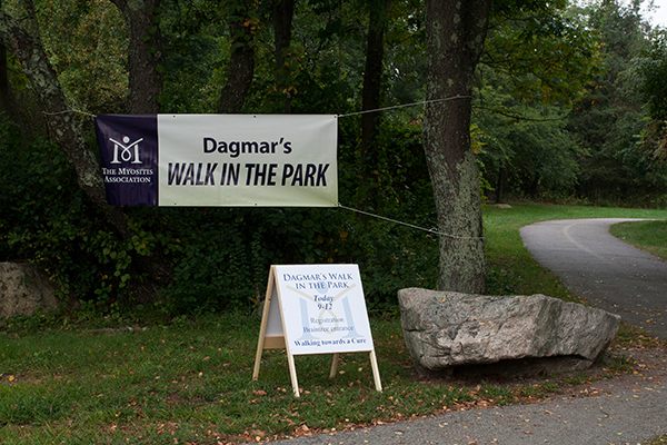 entrance to the 2013 Dagmar's Walk in the Park for Myositis