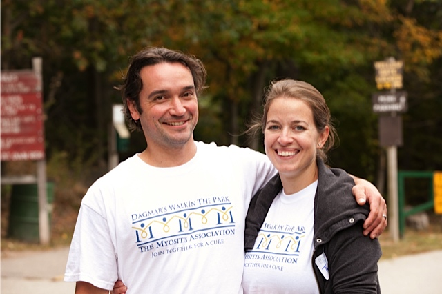 Mark and Trish Slaven at Dagmar's Walk in the Park - 2012