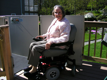 me in the new wheelchair